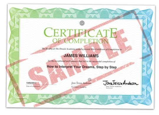 Sample Certificate of Completion